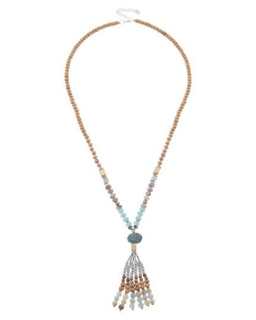Nakamol - Metallic Beaded Tassel Necklace - Lyst