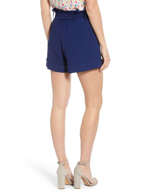 4f6508b5 ... Gibson - Blue X Living In Yellow Ivy Paperbag Tie Waist Shorts - Lyst