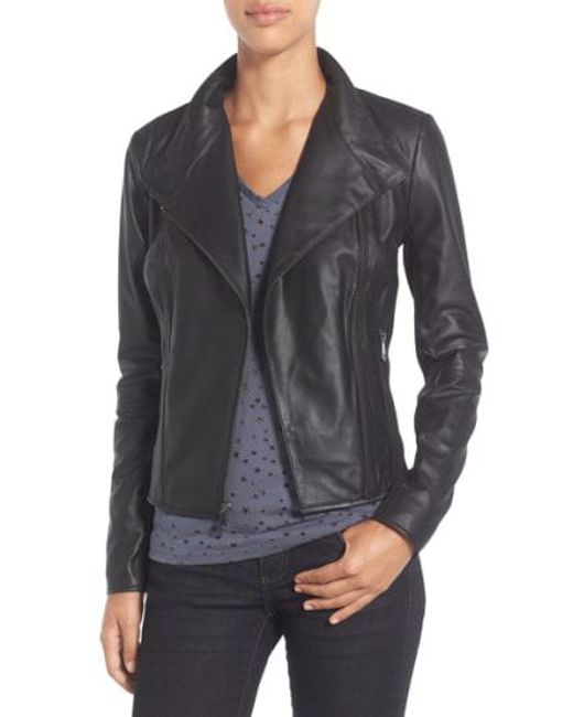 Andrew Marc - Black By Andrew Marc 'Felix' Stand Collar Leather Jacket - Lyst