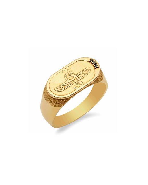 Conges - Metallic Old School Black Diamond Scarab Ring - Lyst
