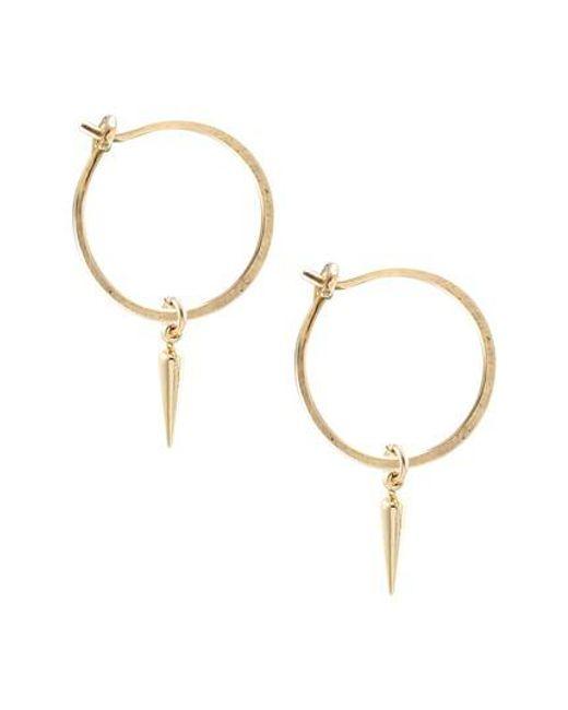 Kris Nations - Metallic Spike Hoop Earrings - Lyst