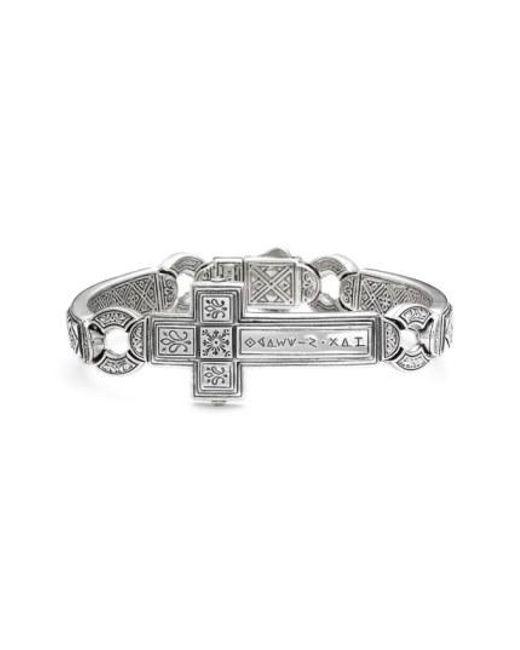 Konstantino - Metallic 'silver Classics' Metal Cross Bracelet for Men - Lyst