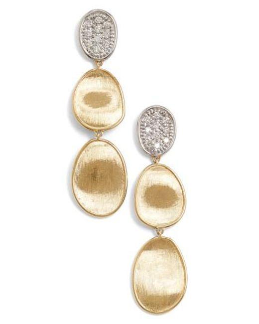 Marco Bicego - Metallic 'lunaria' Diamond Drop Earrings - Lyst