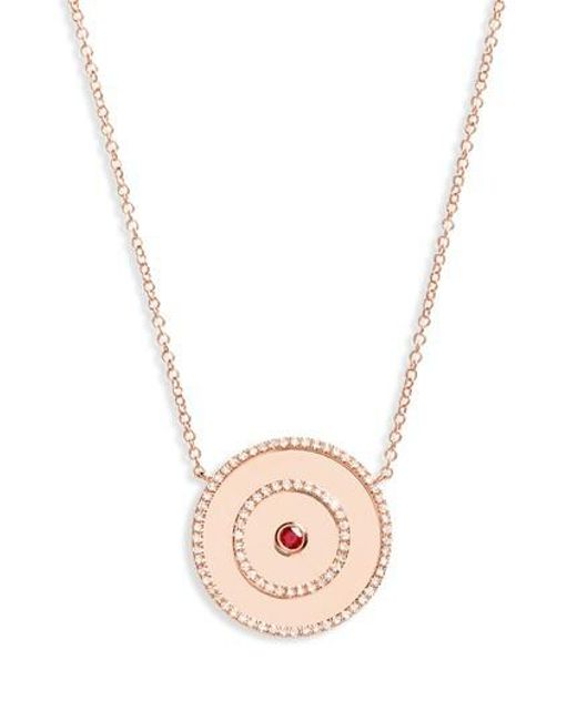 EF Collection - Metallic Bullseye Diamond Pendant Necklace - Lyst