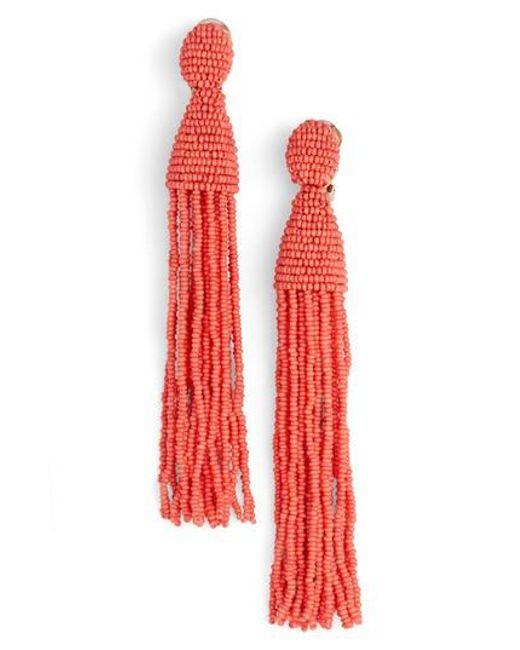 Oscar de la Renta | Metallic Cable Chain Earrings | Lyst