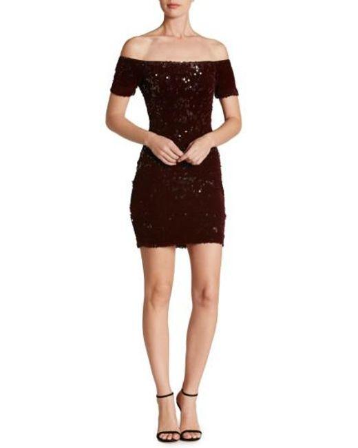 Dress the Population | Multicolor Larissa Sequin Off The Shoulder Body-con Dress | Lyst