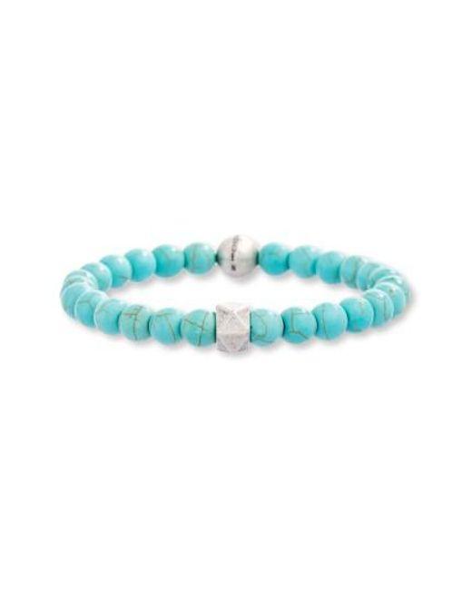 Steve Madden   Blue Turquoise Bead Bracelet   Lyst