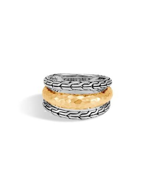 John Hardy - Metallic Classic Chain Hammered Ring - Lyst