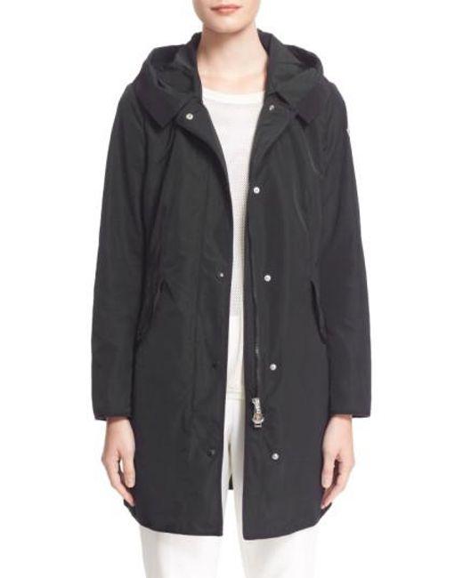 Moncler - Black Argeline Cotton Parka Jacket  - Lyst