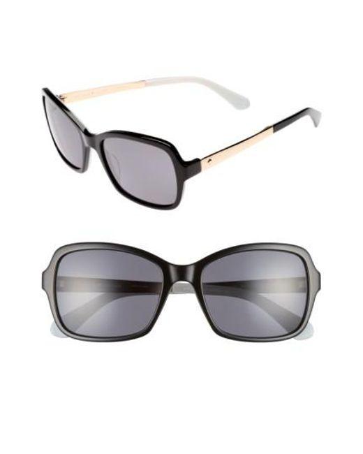 Kate Spade   Black Annjanette 55mm Polarized Sunglasses   Lyst