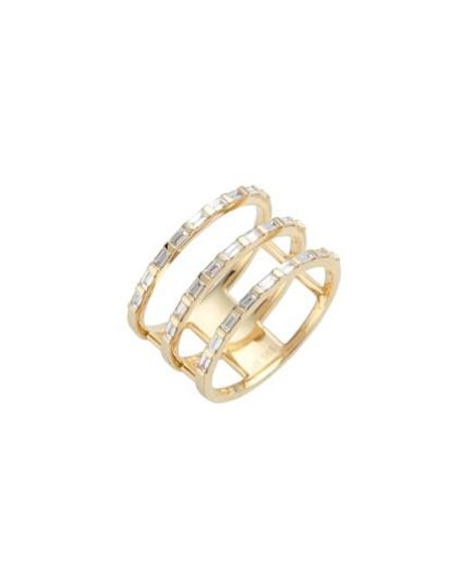 EF Collection | Metallic Diamond Stack Ring | Lyst