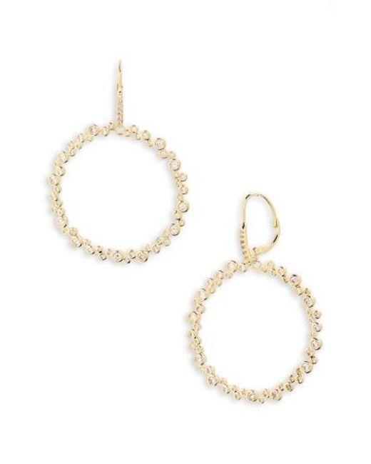 Melinda Maria | Metallic Sasha Hoop Earrings | Lyst