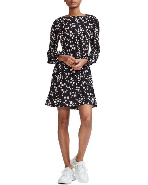 Maje - Black Rockiz Daisy Print Long Sleeve Dress - Lyst