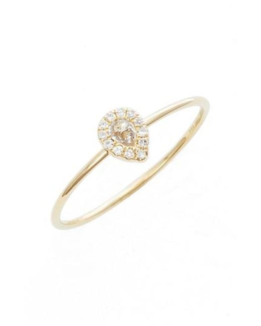 EF Collection | Metallic Teardrop Diamond & Topaz Stack Ring | Lyst