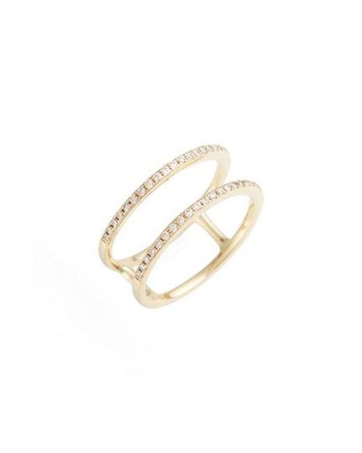 EF Collection | Metallic Double Row Diamond Ring | Lyst