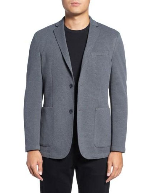 Vince Camuto - Gray Slim Fit Stretch Knit Blazer for Men - Lyst