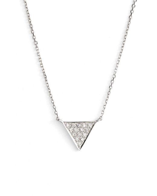 Dana Rebecca - Metallic 'emily Sarah' Diamond Triangle Pendant Necklace - Lyst