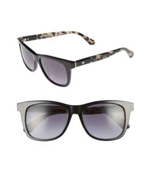 Kate Spade - Black Charmine 53mm Gradient Lens Sunglasses - Lyst