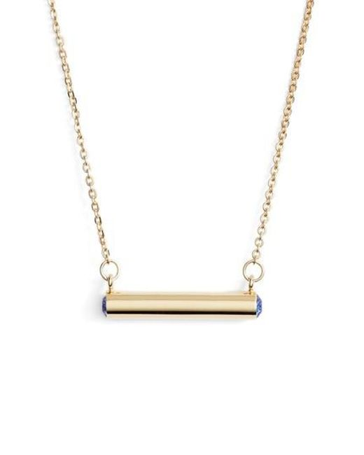 Stella Valle | Metallic Stella Vale September Crystal Bar Pendant Necklace | Lyst