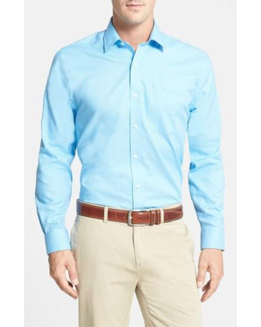 Cutter & Buck | Blue 'epic Easy Care' Classic Fit Wrinkle Free Sport Shirt for Men | Lyst