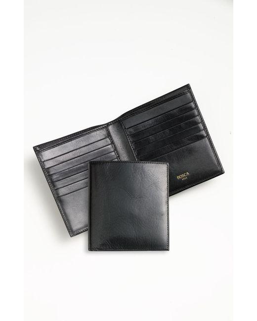 Bosca - Black 'old Leather' Credit Wallet for Men - Lyst