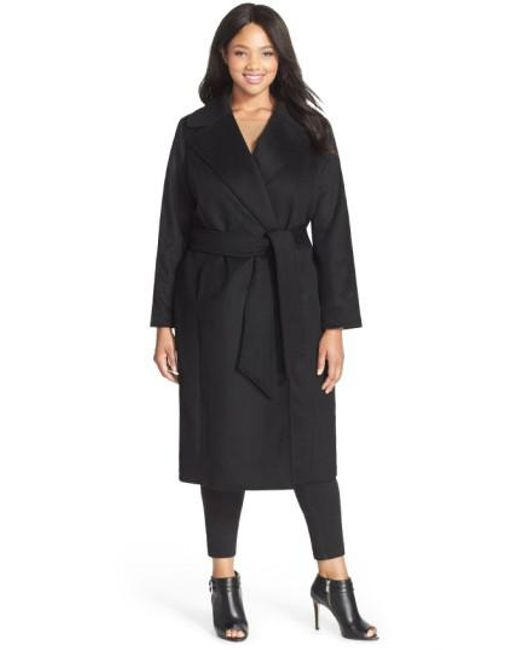 George Simonton | Black Couture 'hollywood' Long Wrap Coat | Lyst