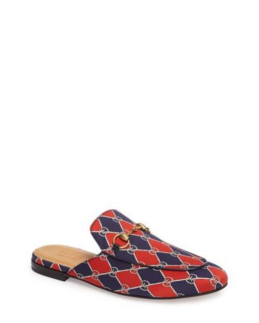 Gucci | Red King's Harlequin Bit Loafer | Lyst