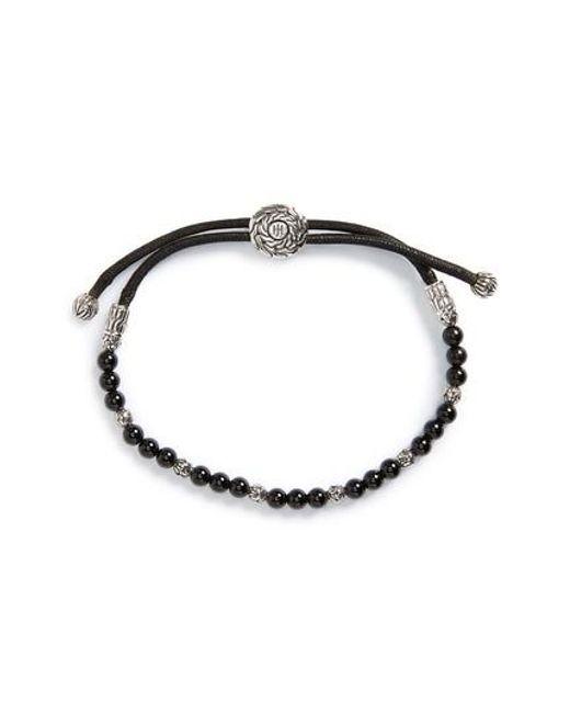 John Hardy - Metallic 'classic Chain' Beaded Friendship Bracelet for Men - Lyst