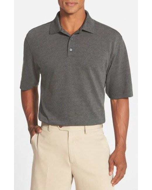 Cutter & Buck - Blue 'championship' Classic Fit Drytec Golf Polo for Men - Lyst