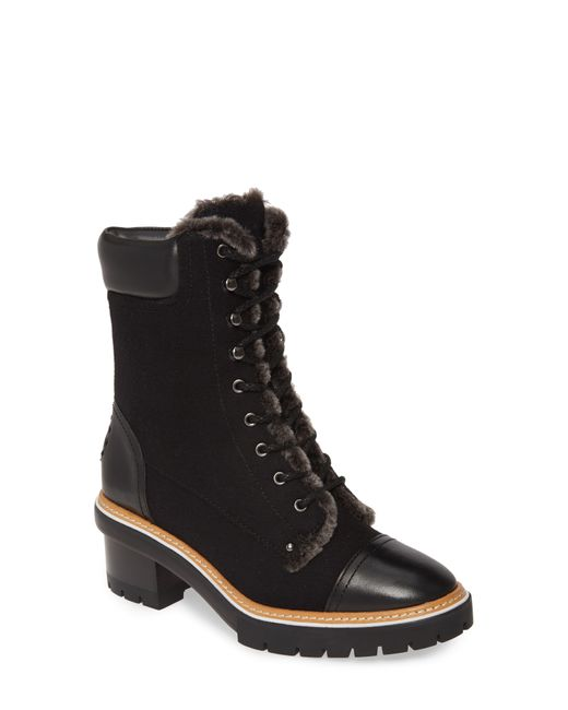 Tory Burch Black 60mm Miller Suede & Shearling Boots