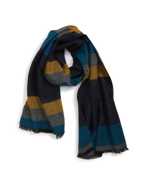 5be36e0e6eca Lyst - Ted Baker Striped Scarf in Blue for Men