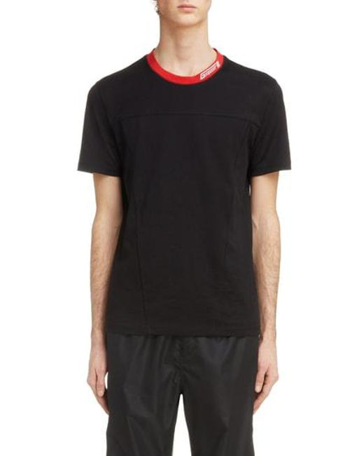 Givenchy - Black Red Collar T-shirt for Men - Lyst