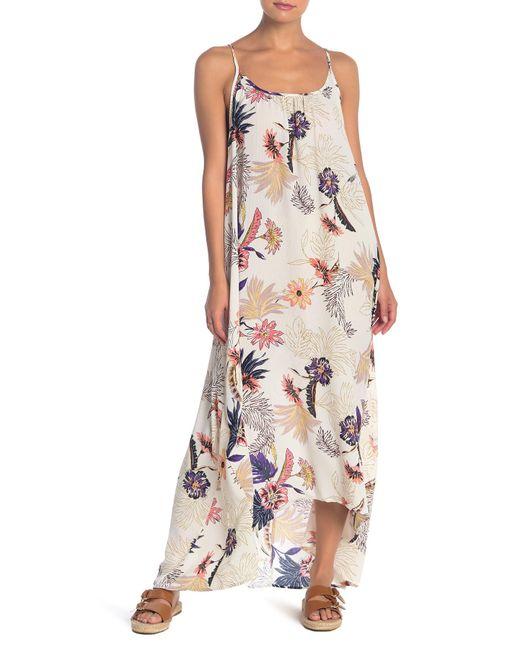 d2653b11fe8a Love Stitch - Multicolor Floral Print Scoop Neck High/low Maxi Dress - Lyst  ...