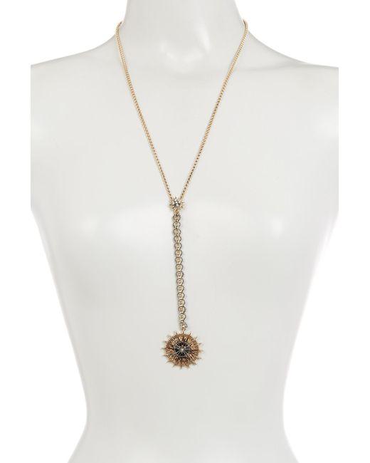 Jenny Packham | Metallic Burst Hematite & Pave Crystal Y-drop Necklace | Lyst