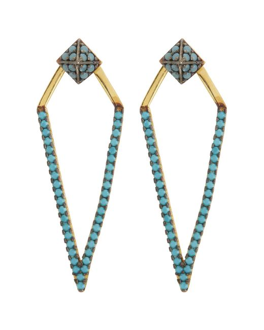 Argento Vivo - Metallic Crystal Embellished Kite Drop Jacket Earrings - Lyst
