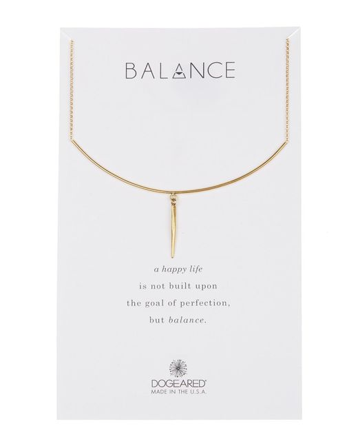 Dogeared - Metallic Balance Delicate Bar & Spear Charm Necklace - Lyst