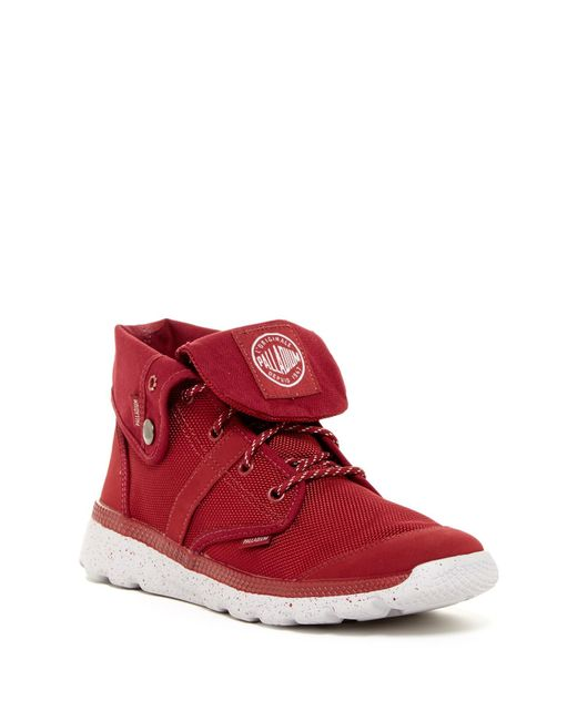 palladium pallaville baggy boot in red for men