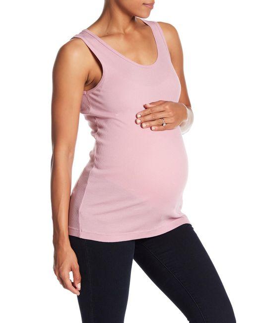 Lamade - Pink Lana Ribbed Knit Tank (maternity) - Lyst