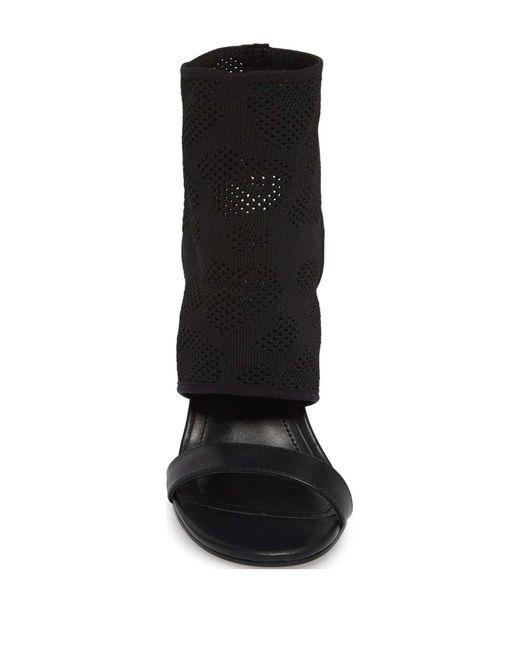 609d7b92139 ... Charles David - Black Remote Knit Sandal - Lyst