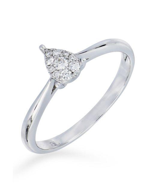 Bony Levy - Metallic 18k White Gold Diamond Cluster Pear Ring - 0.11 Ctw - Lyst