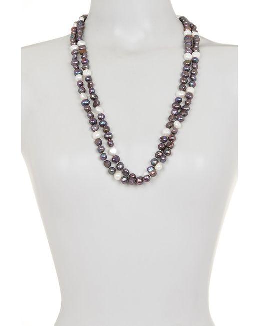 Splendid - Metallic Endless Multicolored 9-10mm Freshwater Pearl Necklace - Lyst