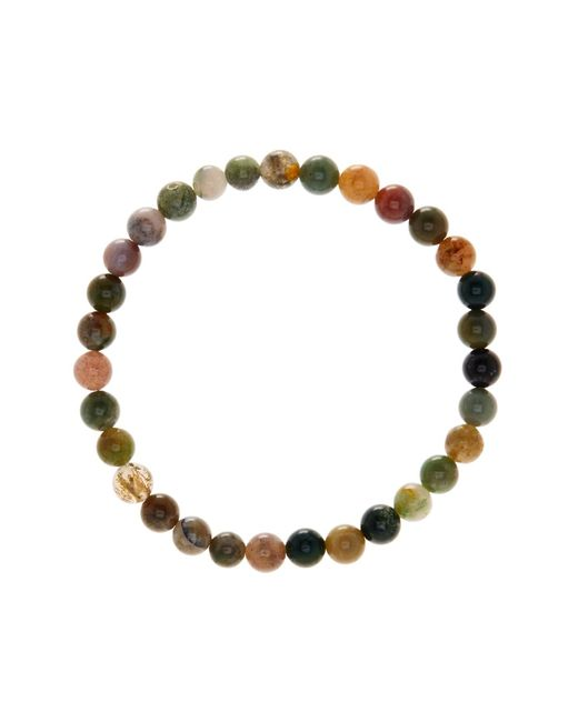 Link Up - Multicolor 6mm Moss Agate Beaded Bracelet - Lyst