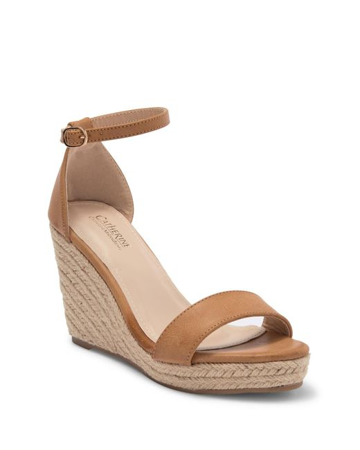 9a9c0c94147 Catherine Malandrino - Brown Single Band Espadrille Wedge Sandal - Lyst ...