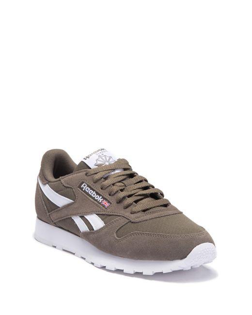 ce44199884b Reebok - Gray Classic Leather Mu Sneaker for Men - Lyst ...