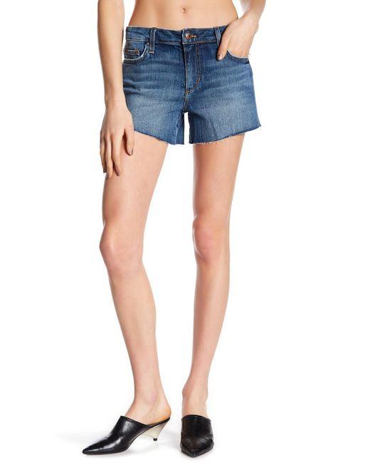 Joe's Jeans - Blue The Ozzie Frayed Denim Shorts - Lyst