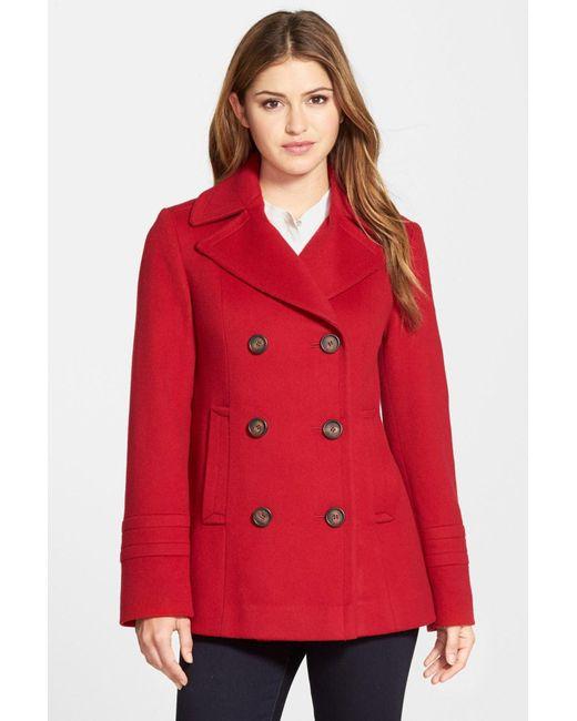 Fleurette | Red Wool Peacoat | Lyst