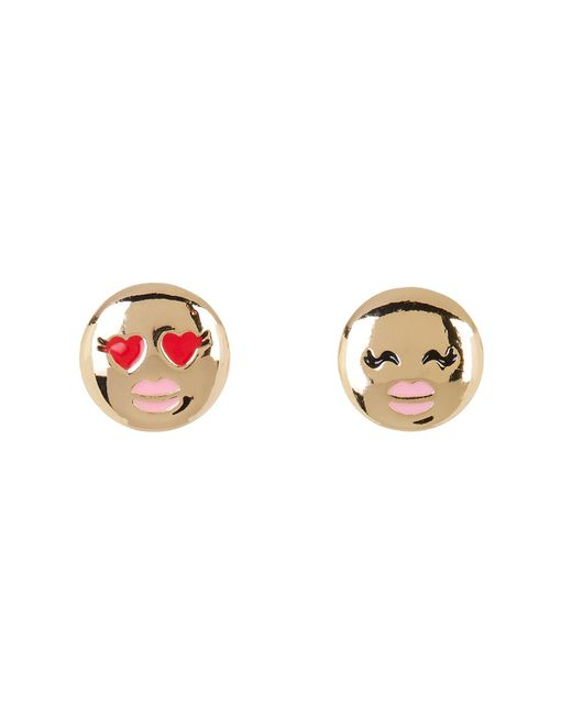 BCBGeneration | Multicolor Enamel Detail Emoji Stud Earrings | Lyst