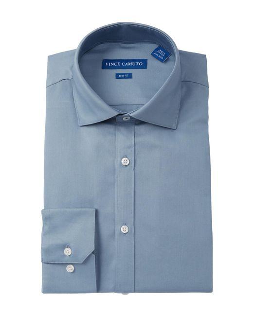Vince Camuto - Blue Solid Slim Fit Dress Shirt for Men - Lyst