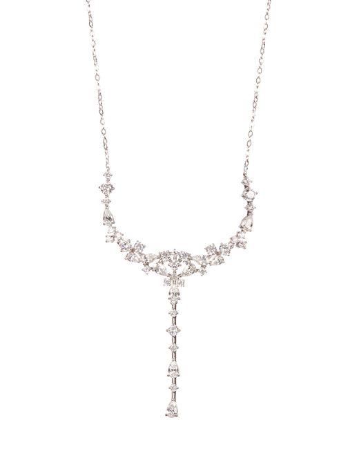 Nadri - Multicolor Rhodium Plated Cz Necklace - Lyst