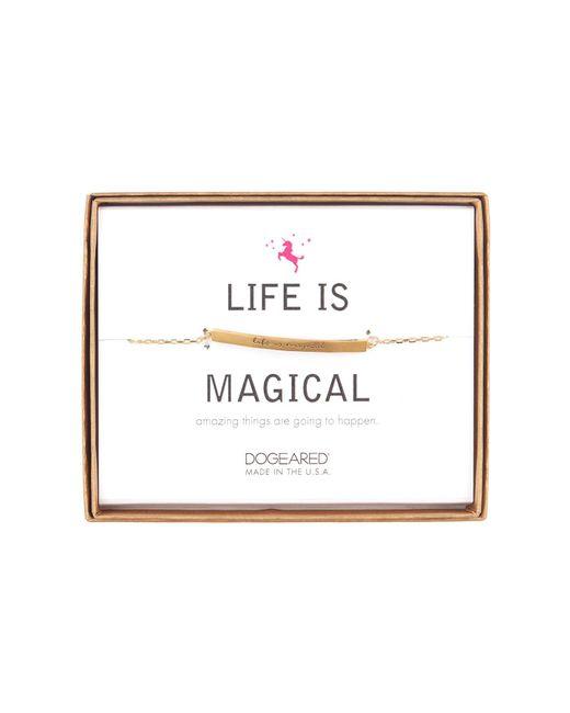 Dogeared - Metallic 14k Gold Vermeil Life Is Magical Id Bar Bracelet - Lyst